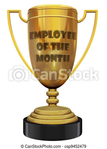 employee of the month trophy - csp9452479