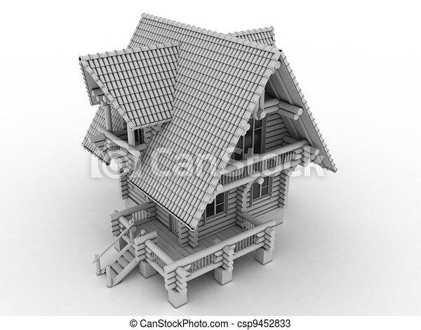 wooden house  - csp9452833