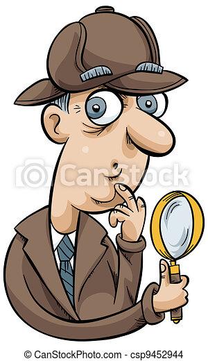 caricatura, detective - csp9452944