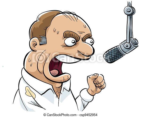 Angry Talk Radio DJ - csp9452954