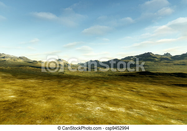 landscape without vegetation - csp9452994