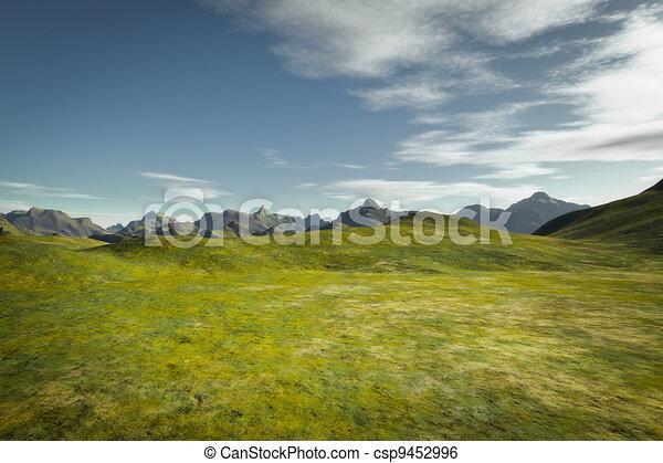 landscape without vegetation - csp9452996