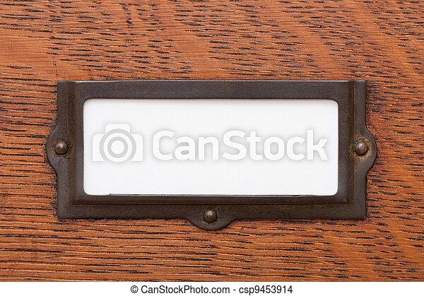 Blank File Drawer Label - csp9453914