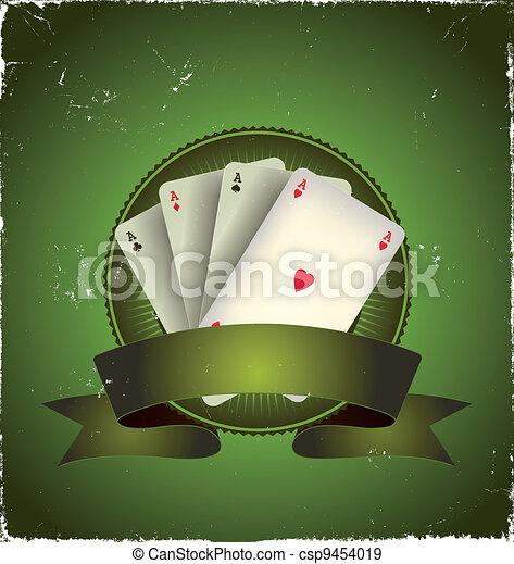 Casino Poker Aces Banner - csp9454019