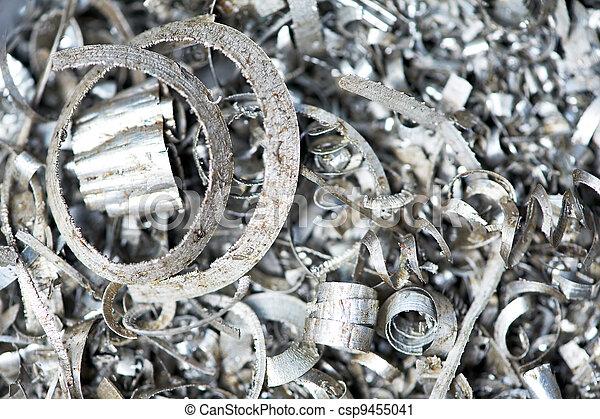 steel metal scrap materials recycling backround - csp9455041