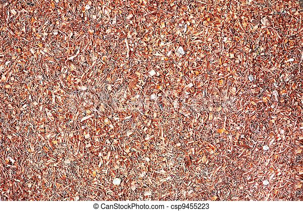 copper metal scrap materials recycling backround - csp9455223