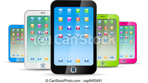 Touchphones on white background - csp9455691