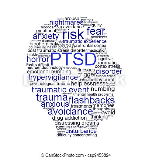 PTSD symbol isolated on white background - csp9455824
