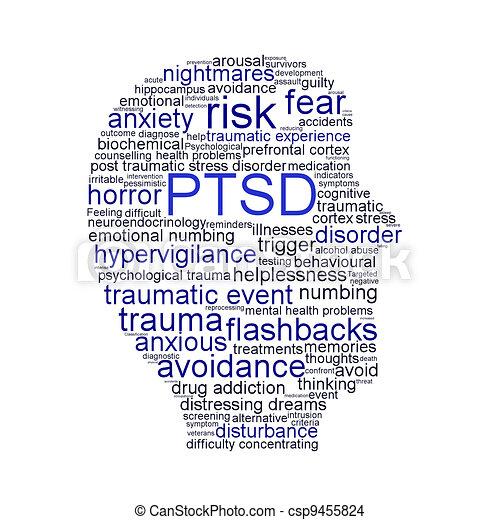 PTSD symbol isolated on white background - csp9455824