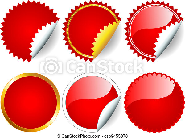 Red sticker set - csp9455878