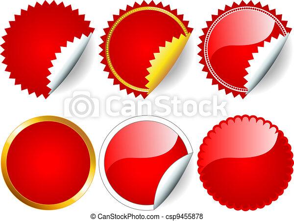 Red sticker set - csp9455878