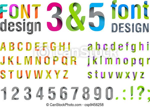Top trendy Font. New. - csp9456258