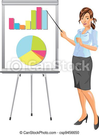 Businesswoman Presentation - csp9456650