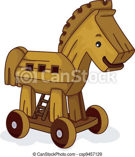 EPS Vectors of Wooden Horse - Illustration of a Wooden Horse Toy ...