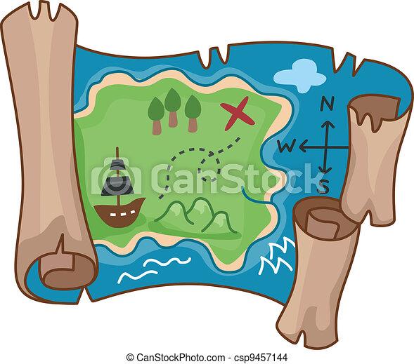 Treasure Map - csp9457144