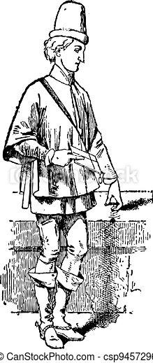 Journade, vintage engraving - csp9457296