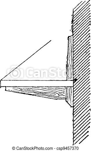 Shelf Support, vintage engraving - csp9457370