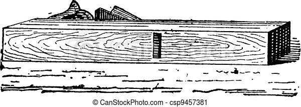 Hand Plane, vintage engraving - csp9457381
