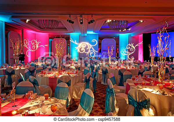 Decorated Ballroom for Indian Weding - csp9457588