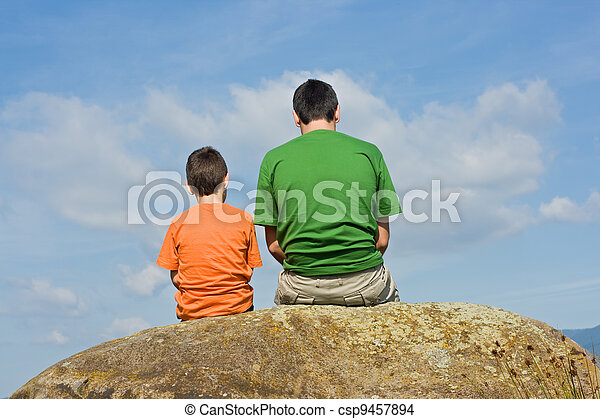 From father to son - the big talk concept - csp9457894