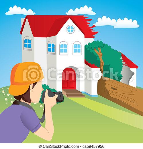 House Accident News - csp9457956