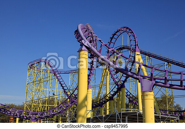 Roller coaster at a theme park - csp9457995