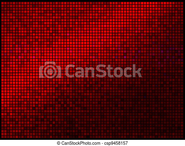 Abstract Lights Red Disco Background - csp9458157