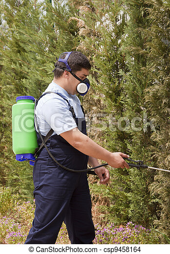 spraying insects - csp9458164