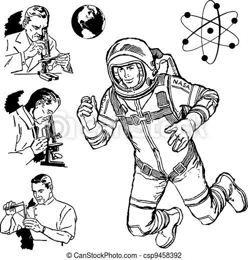 Vector Vintage Science Graphics - csp9458392