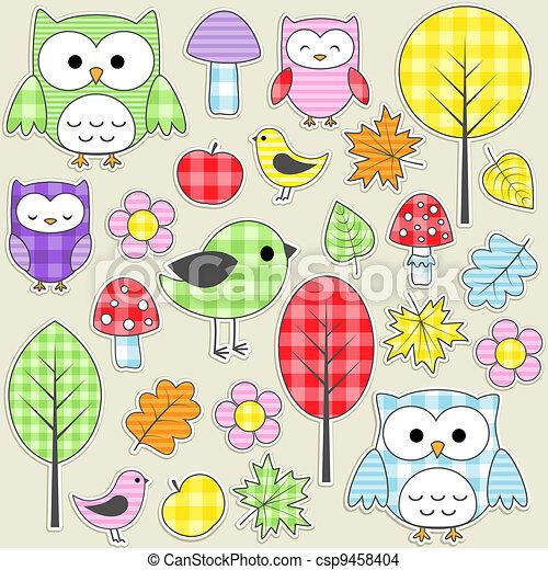 Textile stickers - csp9458404