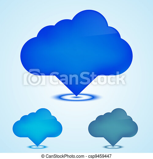 Vector web icons clouds set. Eps10 - csp9459447