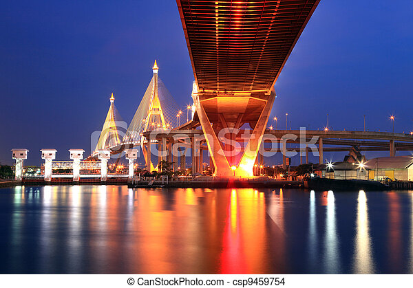 Bangkok Industrial Bridge - csp9459754