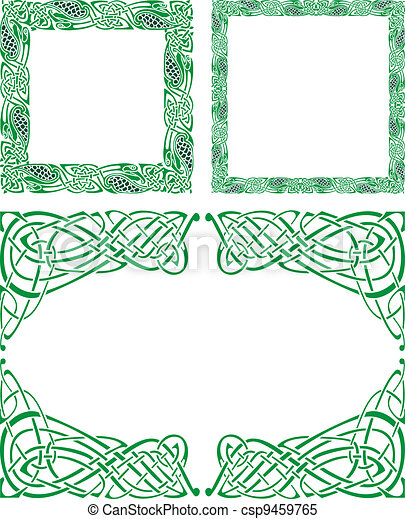 Celtic ornament borders - csp9459765