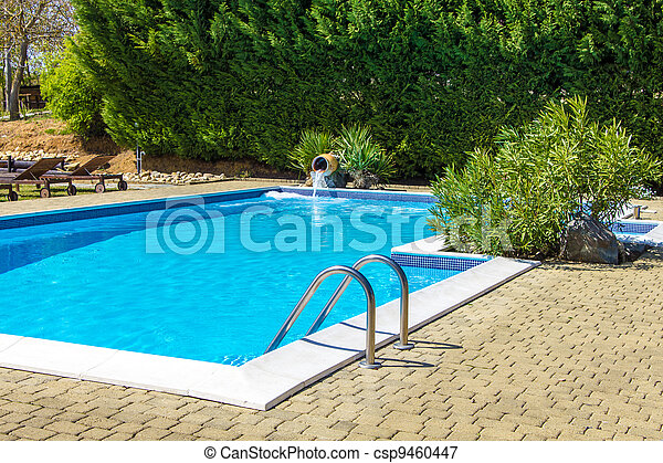 At the poolside into the green - csp9460447