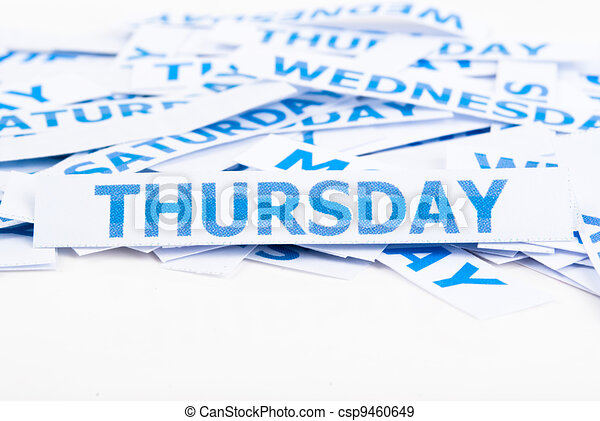 Thursday word texture  - csp9460649Thursday Word