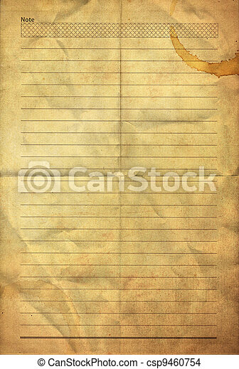 old grunge folding note paper  - csp9460754