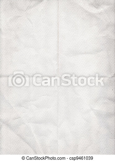 old white paper folded in four - csp9461039