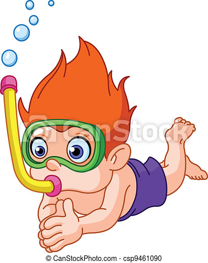 Snorkeling kid - csp9461090