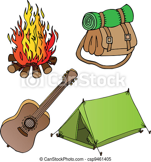Camping objects collection 1 - csp9461405