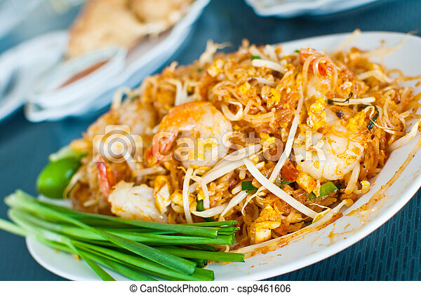 Thai food call Pad Thai. - csp9461606
