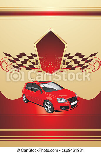 Red sport car - csp9461931