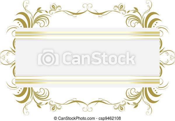 Decorative floral frame. Title - csp9462108