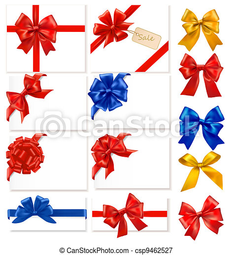 Big collection of color gift bows - csp9462527