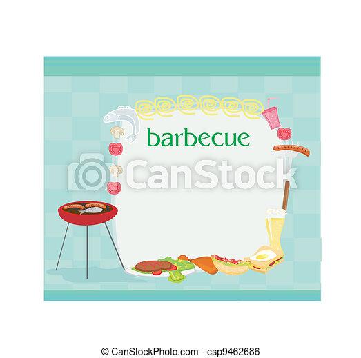 Barbecue Party Invitation  - csp9462686