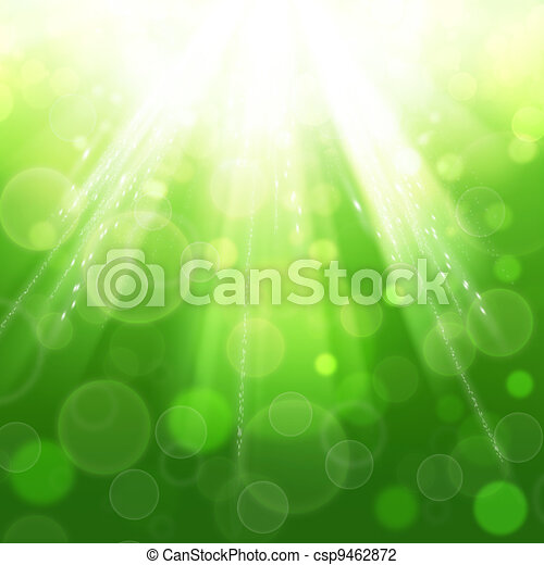 Sun beam. Abstract spring and summer backgrounds - csp9462872