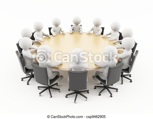 3D people business meeting - csp9462905