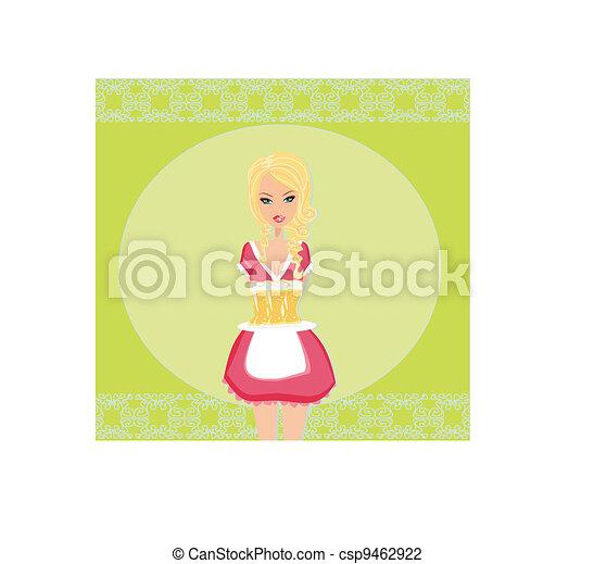 Oktoberfest waitress  - csp9462922