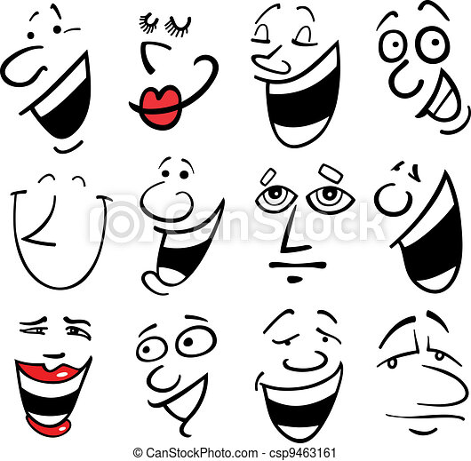 Cartoon emotions illustration - csp9463161