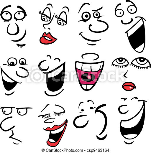 Cartoon emotions illustration - csp9463164