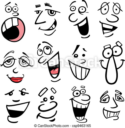 Cartoon emotions illustration - csp9463165